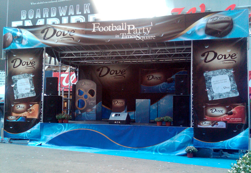 Dove Chocolates Football Party in Times Square