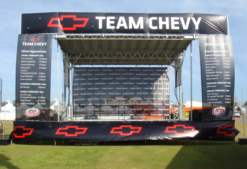 Team Chevy Stage for Nascar