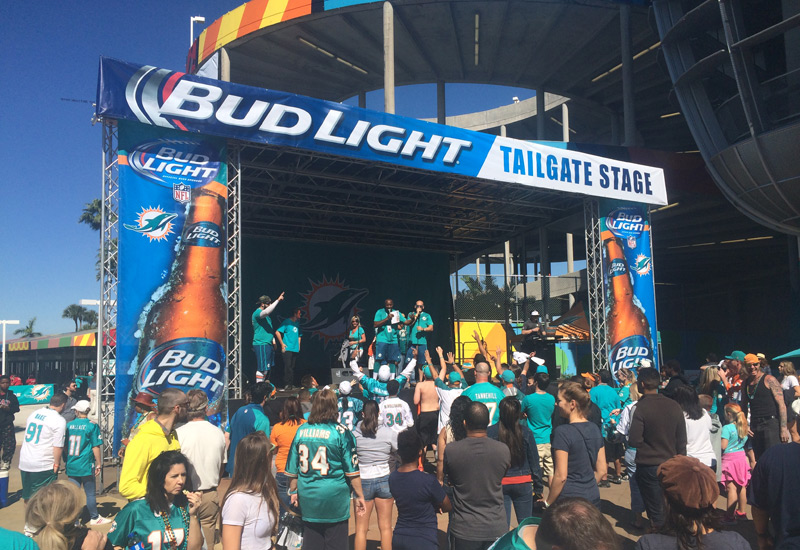 Bud Light Tailgate Stage for the Dolphins