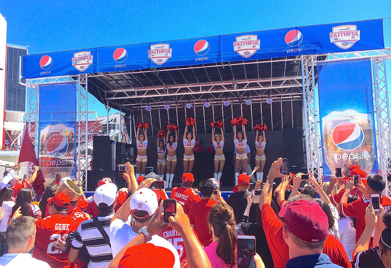 Pepsi Stage for the 49ers