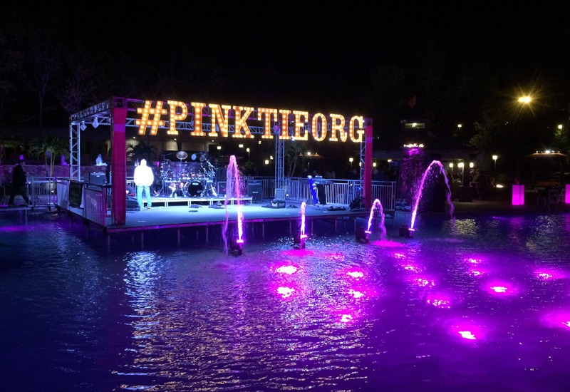 Pink Tie Stage on the water