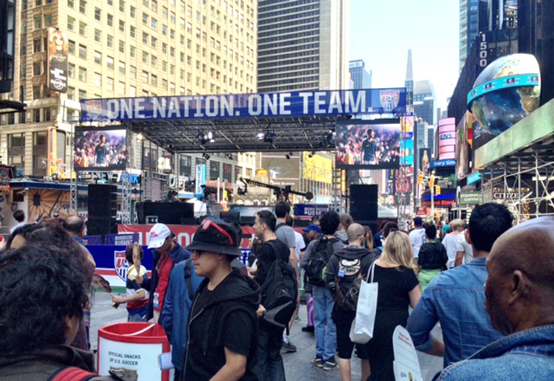 US Soccer Staging in Times Square NYC