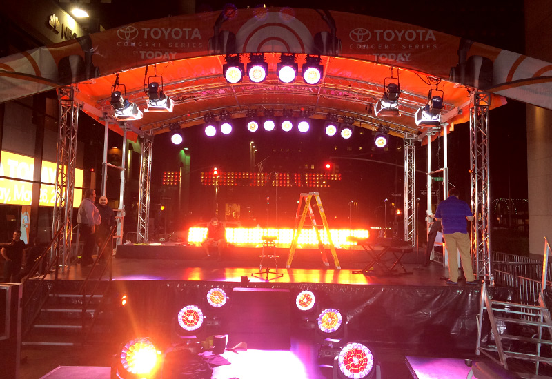 Toyota Concert Series Stage Lighting