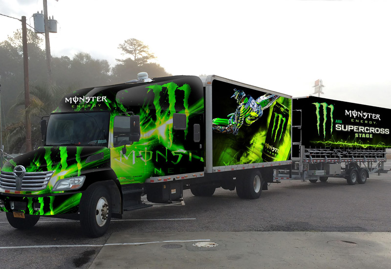 Monster Energy Truck and Trailor