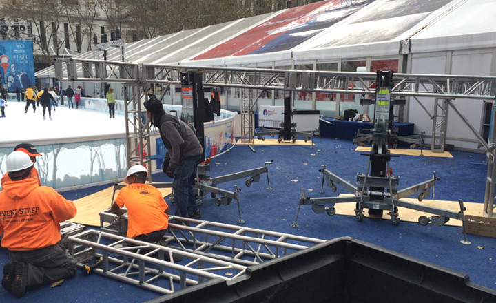 Trussing for Stage - BOA Bryant Park